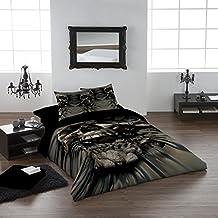 SKULL RIP-THRU Duvet & Pillows Case Covers Set for Kingsize Bed
