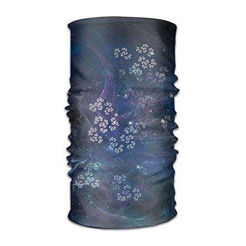 Magic Headwear Flowing Smoke Glimmer Flowers Multi-functional Sweatband Face Mask Scarf Bandana Balaclava Head Wrap Liner