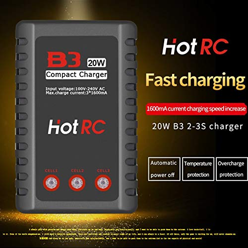 Wikiwand HOTRC B3 20W 1.6A AC Battery Balance Charger for 2S-3S RC LiPo Battery by Wikiwand (Image #3)