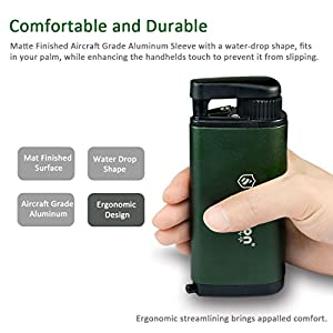 Diercon Tactical Water Micro Filter TW01 - Reusable Personal Hand Pump Water Purifier, 3-Stage Process, Removes 99.9999% of Waterborne Bacteria - Perfect Camping Emergency Survival Gear, Olives