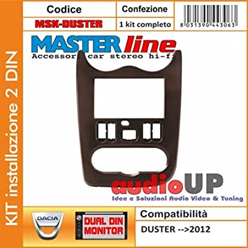 soporte Radio Doble Din Color Marrón Oscuro Kit Jaula metálica ...
