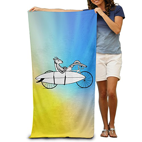 Goat Bicycle Surfing Quick-drying Pool Beach Towel Travel Bath Towel For Adults by BEACHWOEEL-TOWEL