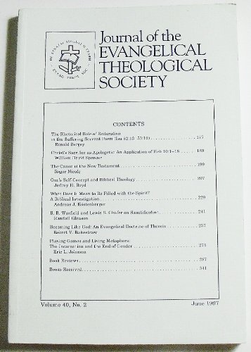 Yearbook of the Evangelical Theological Society (Volume 40 Number 2, June 1997)