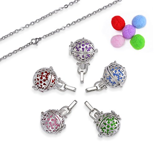 ZX Fashion Diffuser Locket Pendant Essential Oil Hollow Cage Locket Pendant Necklace