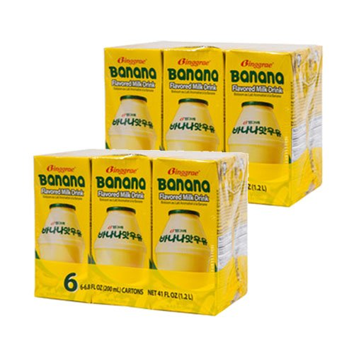 Binggrae Banana Milk 12 Pack 6.8 Fl Oz.