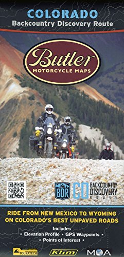 Colorado Backcountry Discovery Route Motorcycle Map, COBDR Dual-Sport Route by Butler Motorcycle Maps