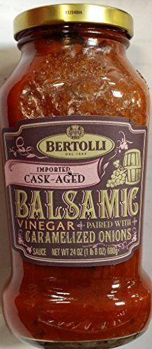 Bertolli Imported Cask Aged Balsamic Vinegar Paired with Carmelized Onions, Pasta Sauce 24 Oz (Pack of 2)