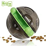 Treat Dispenser EETOYS IQ Puzzle Toy Collection Treat Dispensing Wobbler Ball Toy For Dog And Cat (Double Hemispheroids)