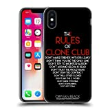 Official Orphan Black Rules Of Clone Code Artwork Soft Gel Case for Apple iPhone X