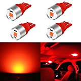 2001 silverado interior trim - Alla Lighting Newest T10 194 LED Bulb 1616-SMD Super Bright LED 194 168 2825 W5W 175 Bulb High Power T10 Wedge LED 194 Bulb License Plate Tag Interior Map Dome Trunk Lights, Pure Red (Set of 4)