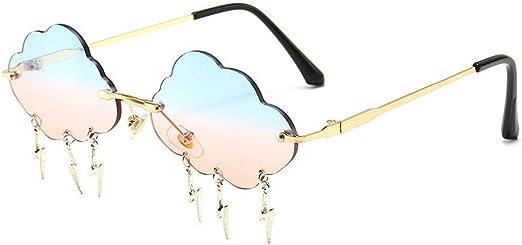 Frameless sunglasses Ladies Designer Punk Rimless Glasses Retro shades