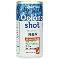 Ito En Oolong Shot, 6.4 Ounce (Pack of 30), Unsweetened, Zero Calories, Antioxidant Rich, Brewed with Whole Leaf Tea, Caffeinated, High in Vitamin C and Polyphenols