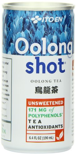 Ito En Oolong Shot, 6.4 Ounce (Pack of 30), Unsweetened, Zero Calories, Antioxidant Rich, Brewed with Whole Leaf Tea, Caffeinated, High in Vitamin C and (Oolong Tea Drinks)