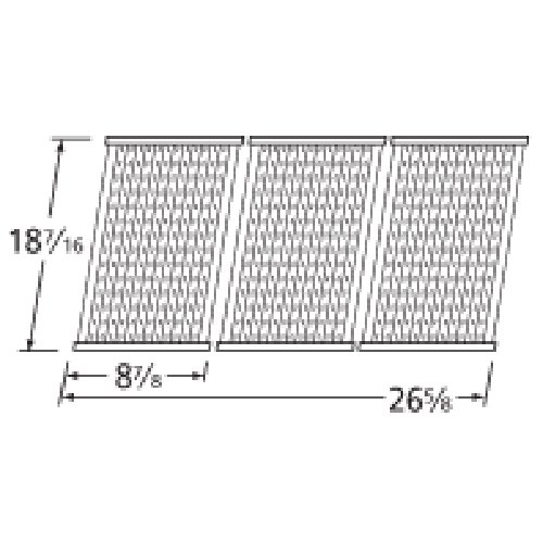 Music City Metals 5S473 Stamped Stainless Steel Cooking Grid