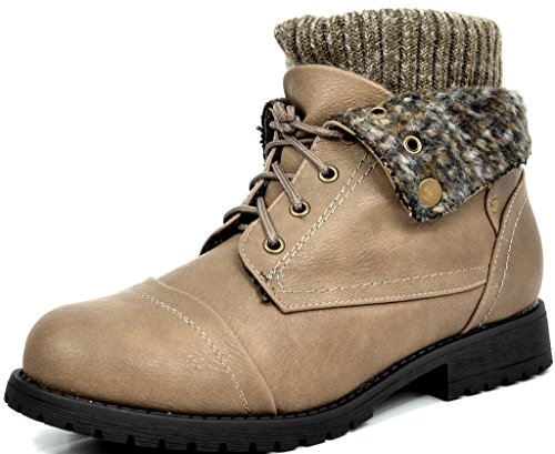 dream-pairs-treker-womens-fashion-casual-combat-style-lace-up-knit-cuff-military-booties-khaki-size-