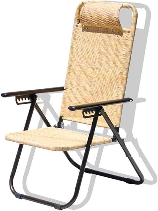 Silla Plegable Silla Exterior de Verano Silla de Playa Silla de jardín Silla de Siesta Sillas de balcón Silla de salón Old Man Tumbonas: Amazon.es: Hogar