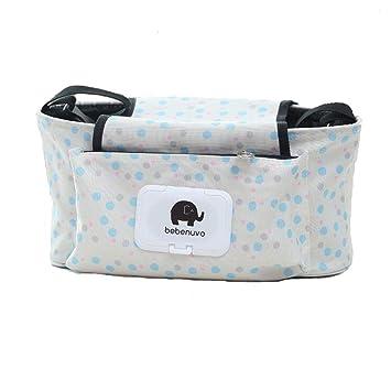 Universal Fit Cochecito Organizador con dos portavasos aisladas mejor regalo para baby shower Organizar Accesorios para Bebé ganchos de experiencia y correa ...