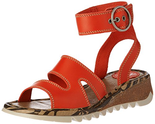 Fly London Damen Tily722fly Sandalen Rot (scharlaken 005)