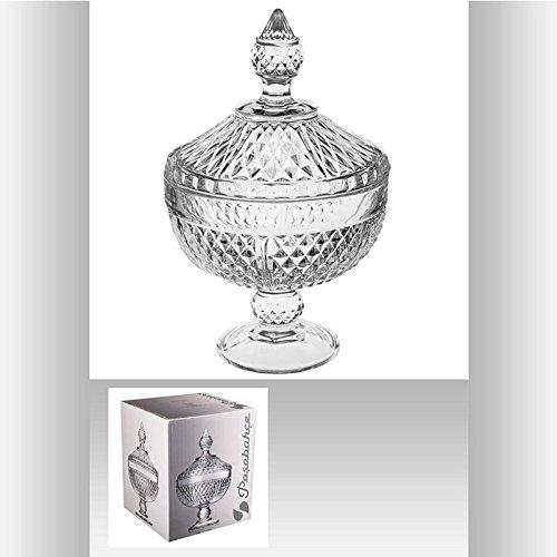 Bomboniere Diamond Pedestal Transparente em Vidro - Pasabahce - 19,4x16,6 cm