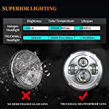 TRUCKMALL 7 inch LED Headlight, 4.5'' Fog