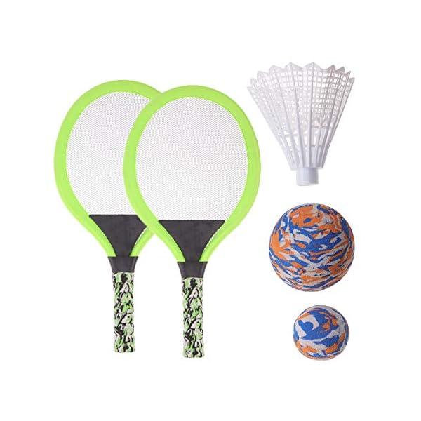 BESPORTBLE Set di Racchette da Tennis Maniglie Resistenti Badminton Racchette da Gioco Giochi da Spiaggia per Bambini… 1 spesavip