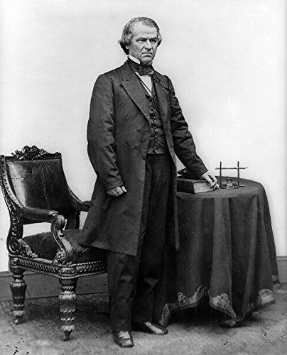 Andrew Johnson Full-Length Portrait Civil War Photograph (12x18 SIGNED Print Master Art Print w/Certificate of Authenticity - Wall Decor Travel Poster)