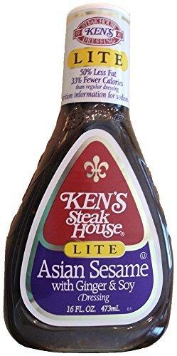 Ken's Steak House Lite Asian Sesame With Ginger & Soy Dressing, 16 oz (Pack of 3)
