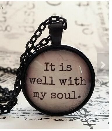 It is well with my soul, glass dome necklace, pendant, gift idea, hostess gift, favor, key ring, Hymn, religious gift, Christian gift idea