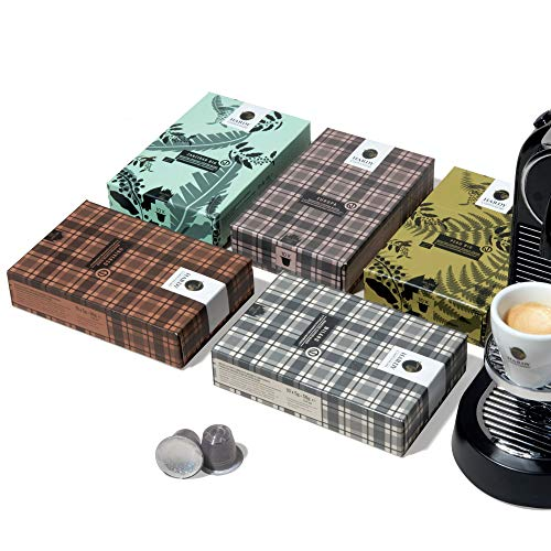 Caffe Hardy Italy Espresso Capsules Variety Pack, 50 Single Cup Coffee Pods Compatible with Nespresso Original Machines, Family-owned in Milan Since 1954