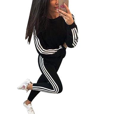247eccf891 Tidecc Women Tracksuit Set Long Sleeve Side Striped Full Tracksuit Sport  Jogging Suit Gym Workout Outfit Playsuit 4 Colors