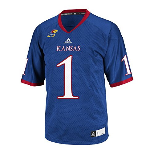adidas NCAA Kansas Jayhawks Men's Replica Football Jersey, Blue, -