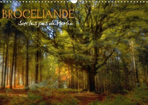 Broceliande, Sur Les Pas De Merlin 2018: Broceliande, Sa Magie, Ses Legendes, Le Roi Arthur, Ses Chevaliers Et Merlin L'enchanteur (Calvendo Nature) (French Edition)
