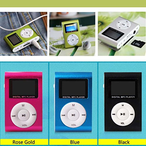 MP3 Player,Tuscom USB Mini MP3 Player LCD Screen Support 32GB Micro SD TF Card (Red#)