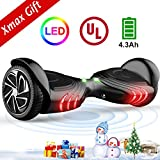 TOMOLOO Hoverboard with LED Light Two-wheel Self Balancing Scooter with UL2272 Certified, 6.5' Wheel Electric Scooter for Kids and...