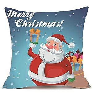 Cuscino di Christmas, Longra Stampa di Cartoni Animati Ultra Velluto Peluche extravergine colorato Natale Pillowcases… 1 spesavip