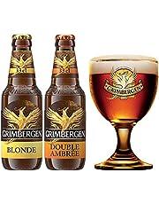 Cerveza Importada Premium Grimbergen 4 botellas de 330ml c/u + Copa