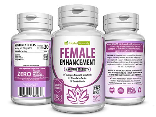 Natural Herbal Female Desire Supplement – Magic Pill for Women Testosterone Booster, Increase Stamina & Energy, Boosts Bed Drive & Prevent Vaginal Dryness 100% Organic Women Supplements 60 Veggie Pill