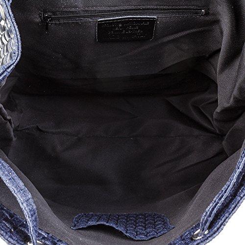 Bleu dos pour main FIRENZE porté femme au à ARTEGIANI Sac bleu OxSvpY