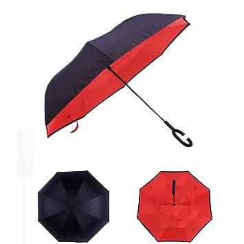 WDYS Libre Manos Dos Niveles Ligeros Paraguas De Sol Anti-Dirección Impermeable Paraguas No UES