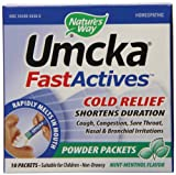 Nature's Way Umcka Fastactives Mint-menthol Coldcare, 10 Packets per Box, (6 boxes per pack)
