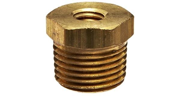 5//16-18 SAE Female x 3//8 NPT male Robert Manufacturing R434 Series Bob Brass Plug Adaptor