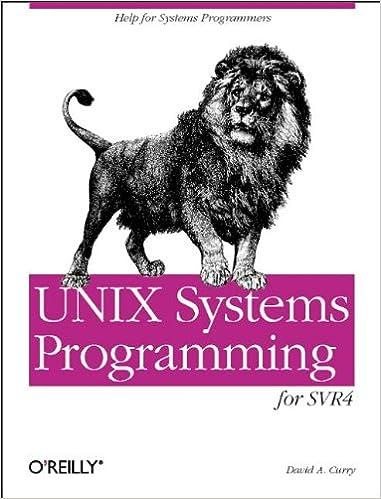 UNIX System Programming  for System VR4