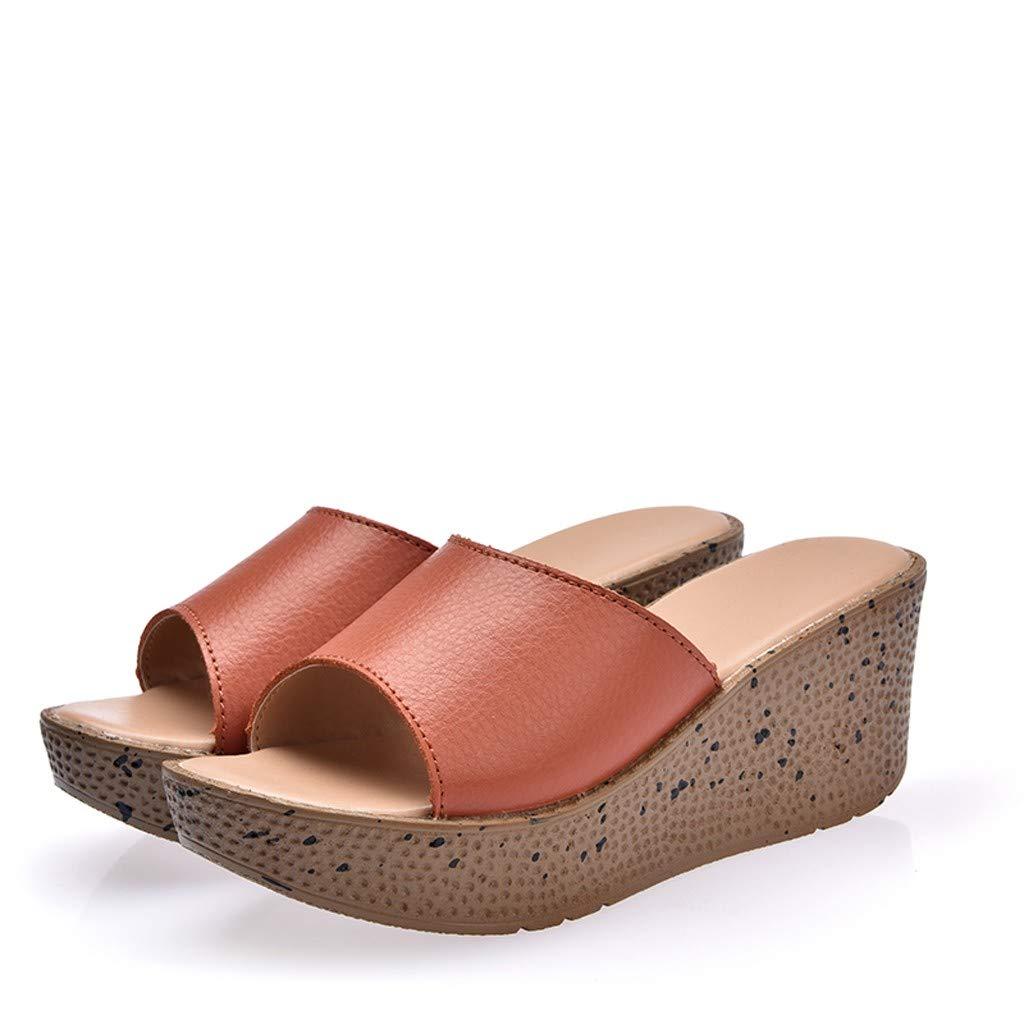 LILICAT✈✈ Sandalias Mujer Cuña Alpargatas Plataforma Bohemias Romanas Mares Playa Gladiador Verano Tacon Planas Zapatos Zapatillas Zapatillas de Verano ...