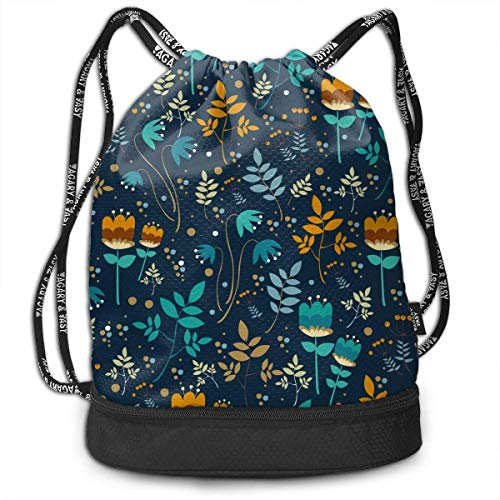 Airealy Colorful Leaves Background Outdoor Bundle Backpack Drawstring Backpack Bags Pack Travel Sport Gym Sack Bag for Men/Women and -