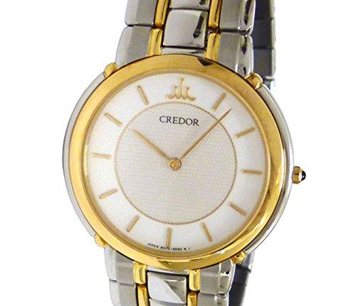 96cc3f1a8b Amazon | セイコー CREDOR クレドール メンズ腕時計/ボーイズ腕時計 SS×18KT クオーツ オフホワイト文字盤 [中古] |  国内メーカー | 腕時計 通販
