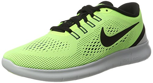 Men's Nike Free RN Running Shoe (13, GHOST GREEN/BLACK-BLUE (Mens Discount)