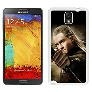 Beautiful Samsung Galaxy Note 3 Case ,Unique And Lovely Designed With The Hobbit The Desolation of Smaug Legolas White Samsung Galaxy Note 3 Phone Case