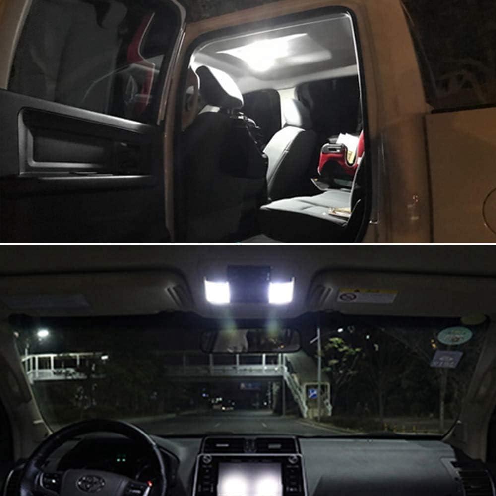 BOINN 10 Piezas//Conjunto 48SMD COB Blanco LED T10 BA9S Panel Interior del Coche Bombillas de L/áMpara de Mapa de Domo