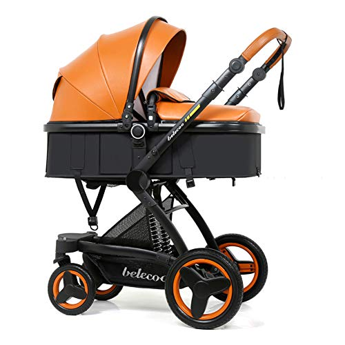 Baby Stroller High Landscape Toddlers Prams from Birth Newborn Pushchairs Baby Strollers fold Two Way Carrycot