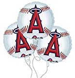 Los Angeles Angels Baseball Mylar Balloons - 3 Pack